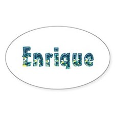 Enrique Under Sea Oval Bumper Stickers