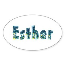 Esther Under Sea Oval Decal