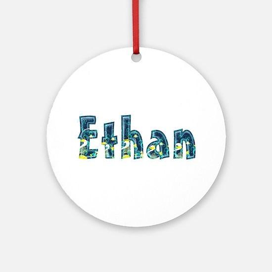 Ethan Under Sea Round Ornament