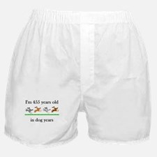 65 dog years birthday 1 Boxer Shorts