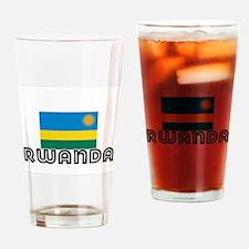 I HEART RWANDA FLAG Drinking Glass