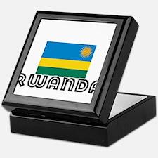 I HEART RWANDA FLAG Keepsake Box
