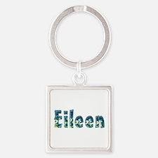 Eileen Under Sea Square Keychain