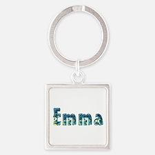 Emma Under Sea Square Keychain