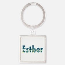 Esther Under Sea Square Keychain