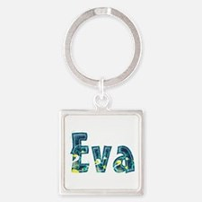 Eva Under Sea Square Keychain