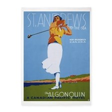 St. Andrews, Golf, Vintage Poster 5'x7'Area Rug