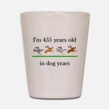 65 dog years birthday 1 Shot Glass