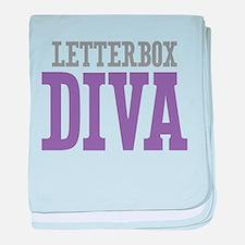 Letterbox DIVA baby blanket