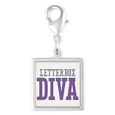 Letterbox DIVA Silver Square Charm