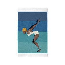 Diver, Swimmer, Vintage Poster 3'x5' Area Rug