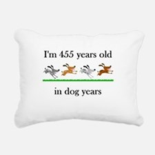 65 dog years birthday 1 Rectangular Canvas Pillow