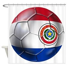 Paraguay Football Shower Curtain