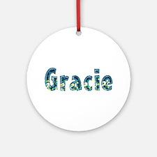 Gracie Under Sea Round Ornament
