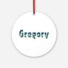 Gregory Under Sea Round Ornament