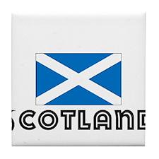 I HEART SCOTLAND FLAG Tile Coaster