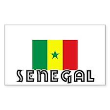 I HEART SENEGAL FLAG Decal