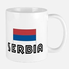 I HEART SERBIA FLAG Mug