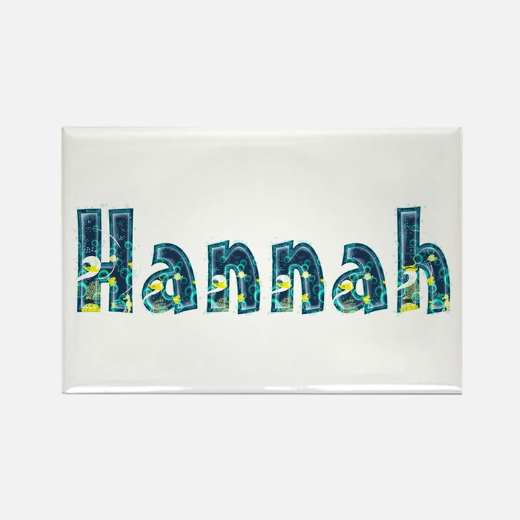 Hannah Under Sea Rectangle Magnet