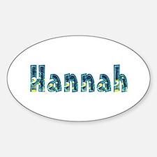 Hannah Under Sea Oval Decal
