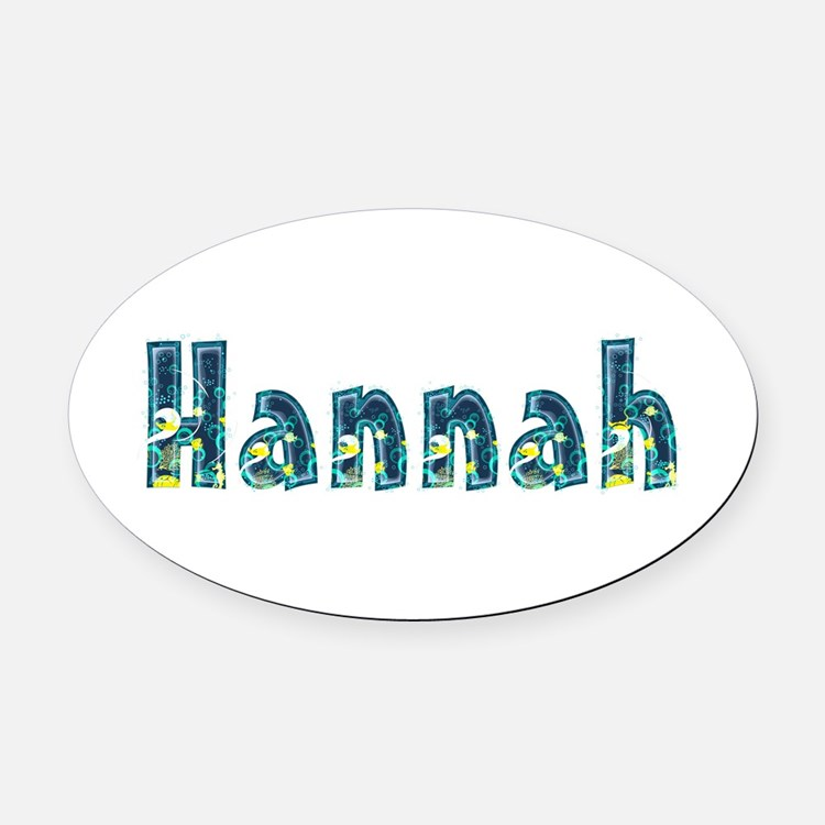 Hannah Under Sea Oval Car Magnet
