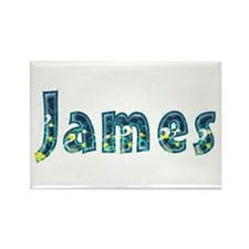 James Under Sea Rectangle Magnet