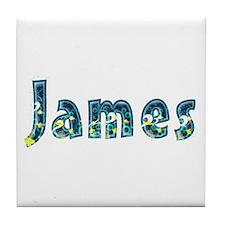 James Under Sea Tile Coaster