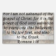 Romans 1:16 Decal