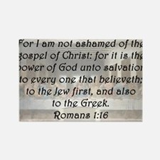 Romans 1:16 Rectangle Magnet