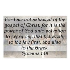Romans 1:16 Postcards (Package of 8)