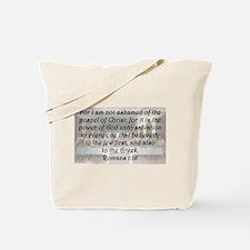 Romans 1:16 Tote Bag