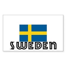 I HEART SWEDEN FLAG Decal