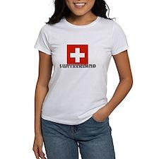 I HEART SWITZERLAND FLAG T-Shirt