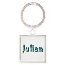 Julian Under Sea Square Keychain