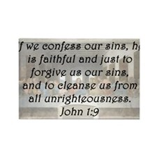 1 John 1:9 Rectangle Magnet