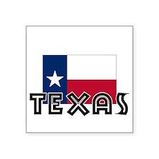 I HEART TEXAS FLAG Sticker