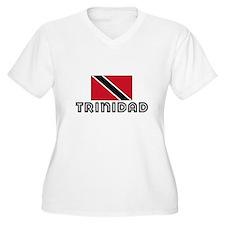 I HEART TRINIDAD FLAG Plus Size T-Shirt