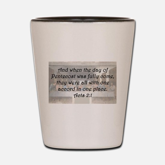Acts 2:1 Shot Glass