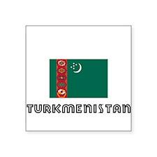 I HEART TURKMENISTAN FLAG Sticker