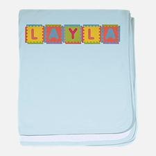 Layla Foam Squares baby blanket