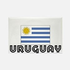 I HEART URUGUAY FLAG Rectangle Magnet