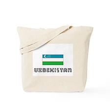 I HEART UZBEKISTAN FLAG Tote Bag