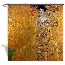 Adele Bloch Bauer by Klimt, Painting Shower Curtai