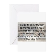 2 Timothy 2:15 Greeting Card