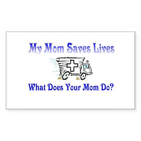 Ambulance Mommy- Kids Rectangle Sticker