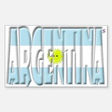 Word Art Flag of Argentina Rectangle Decal