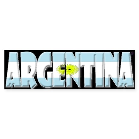 Word Art Flag of Argentina Bumper Sticker