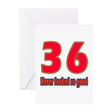 36 Never Looked So Good Greeting Card
