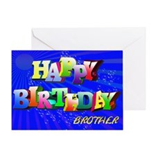 Brother, Bright letters and bubbles birthday card