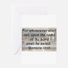 Romans 10:13 Greeting Card